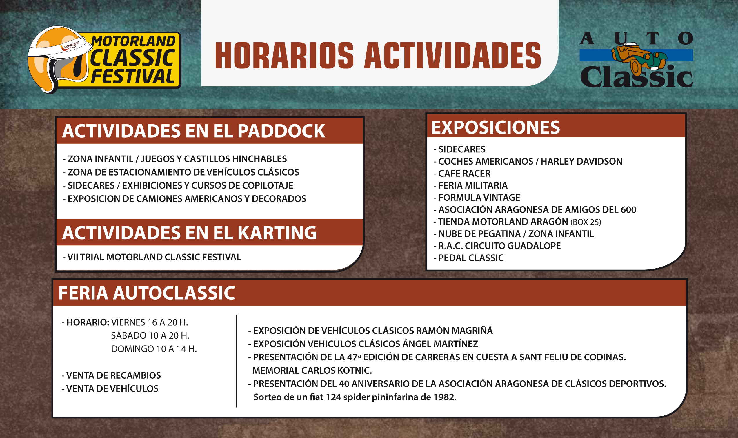 Horarios AutoClassic 2019